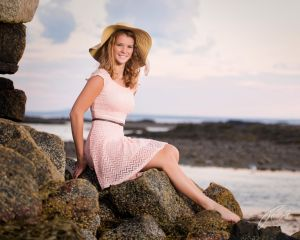 Robert Akers Photography Senior Portrait  Beauty and the Beach