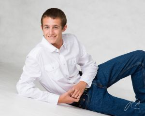 Robert Akers Photography Senior Portrait with white background
