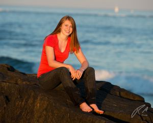Robert Akers Photography Senior Portrait on the Rocks